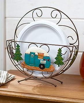 The Lakeside Collection - Soporte decorativo para platos, diseño de caravana: Amazon.es: Hogar