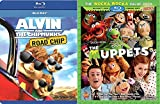 The Muppets Alvin & the Chipmunks: The Road Chip Blu Ray Animated Bundle Cartoons movie Set