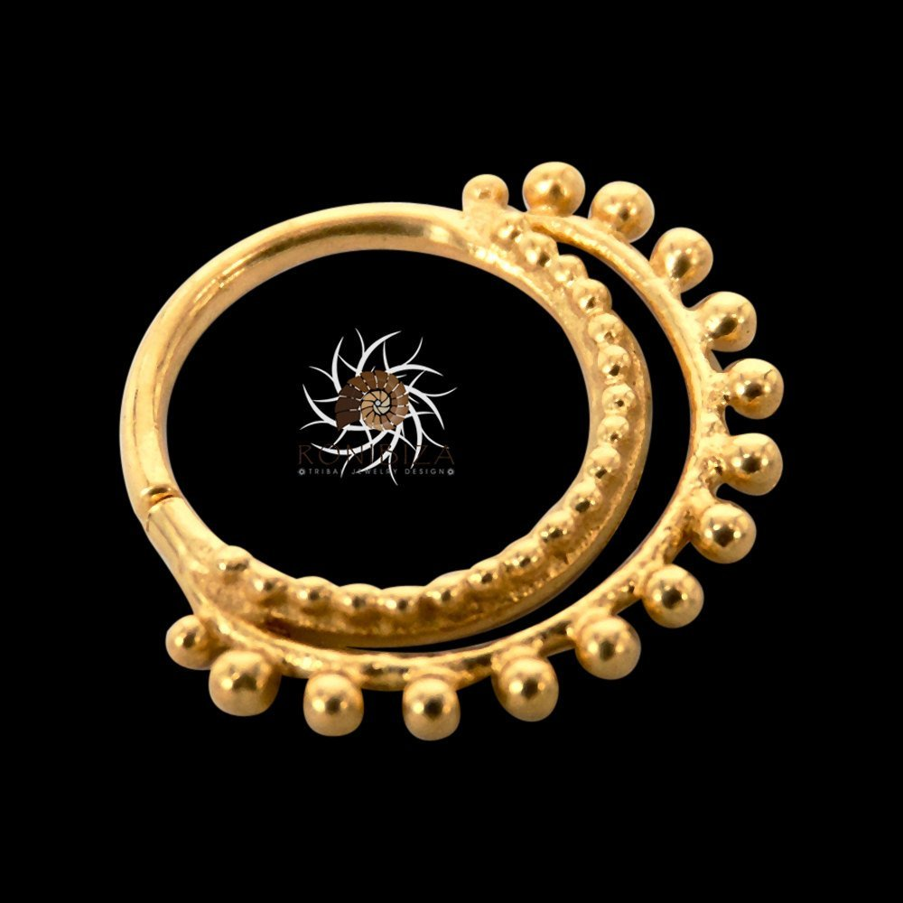 Amazon.com: Gold Nose Ring - Gold Nose Hoop - Indian Nose Ring ...