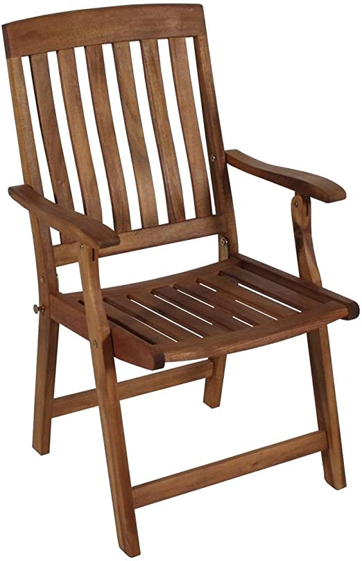 Acacia FSC 100 madera – Silla plegable Silla de jardín silla plegable terraza: Amazon.es: Jardín