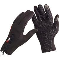 eForCrazy Guantes con dedos a prueba de humedad, para clima frío, ciclismo, esquí, para adultos y adolescentes