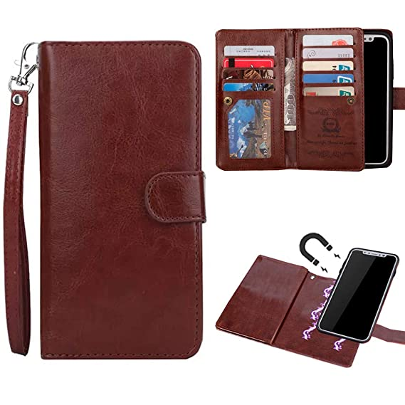 the latest 855bc 3ef08 Amazon.com: iPhone Xr Wallet Case, Digic Magnetic Detachable Wallet ...