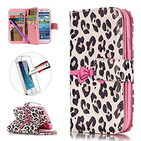 S3 Case, ISADENSER [Card Slot][Kickstand] 9 Card Slots Embossed PU Leather Flip Folio Wallet Cover for Samsung Galaxy S3 I9300 + 1pcs Tempered Glass Screen + 1pcs Stylus Pen (Nine Cards (Rilakkuma Phone Case Galaxy S3)