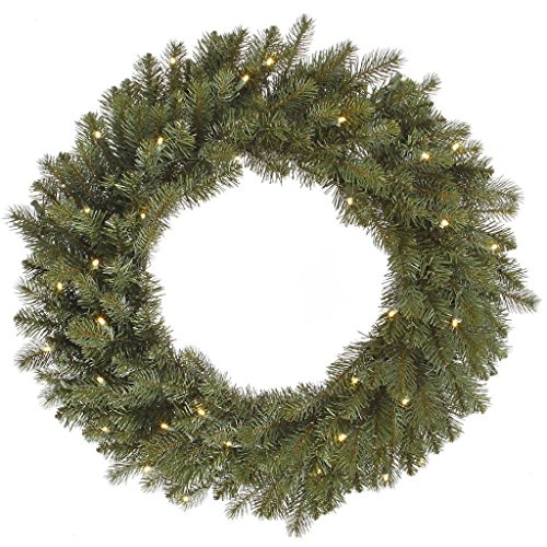 Vickerman A164343LED LED Colorado Spruce Wreath with Warm White Lights - 42 in.