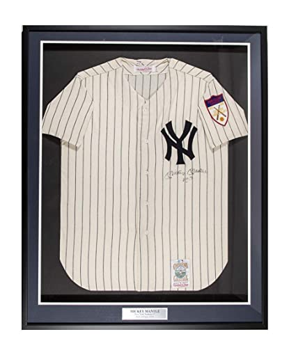 5798becab51 Amazon.com  Mickey Mantle Signed 1951 Yankees 34x41 Mitchell   Ness ...