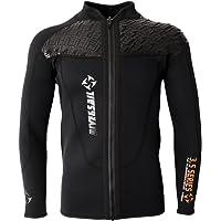 Dolity 3mm Neoprene Mens Front Zip Wetsuit Jacket Long Sleeve Surfing Wetsuits Top
