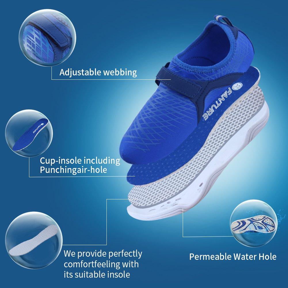 Fanture Girls & Boys Water Shoes Lightweight Comfort Sole Easy Walking Athletic Slip on Aqua Sock(Toddler/Little Kid/Big Kid) U4JSX001-Pink-33 by Fanture (Image #2)