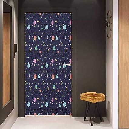 Amazon com: Onefzc Automatic Door Sticker Space Alien