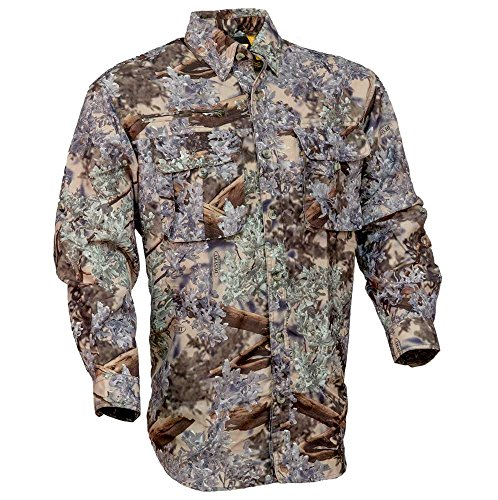 King's Camo Hunter SeriesSafari Long Sleeve Shirt, Desert Shadow, X-Large ()