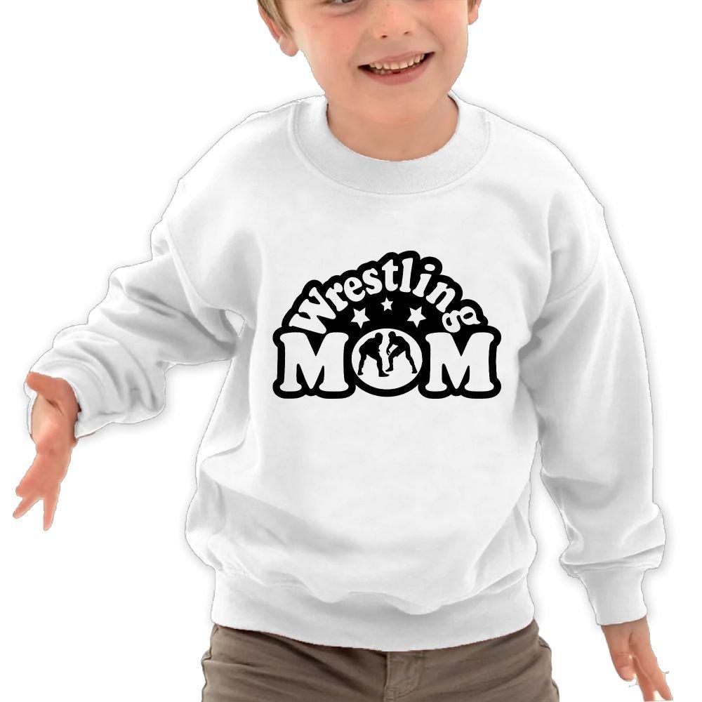 Wrestling Mom 100% Toddler/Kids Long Sleeve Graphic Hoodie Sweatshirt