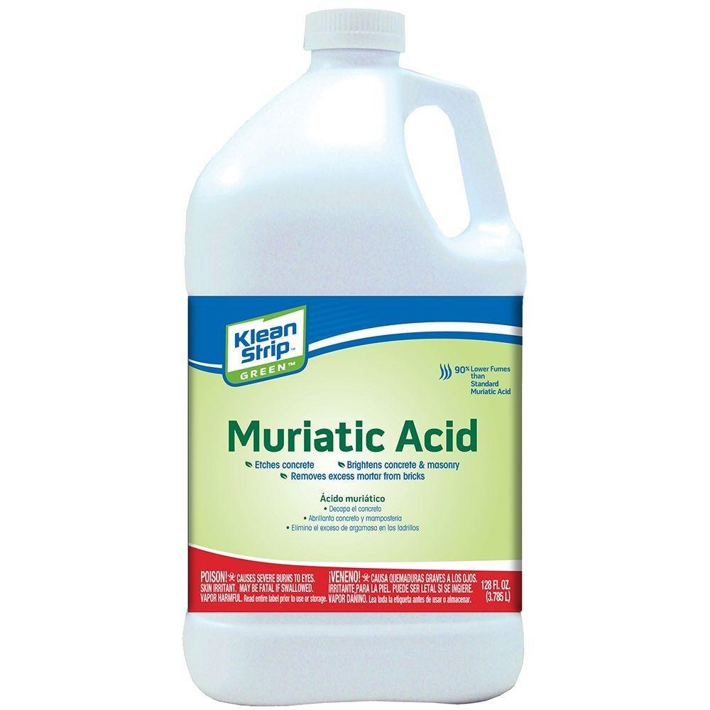 Klean-Strip Green GKGM75006 Green Safer Muriatic Acid, 1-Gallon