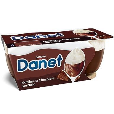 Danone Danet Yogur de Chocolate con Nata - Paquete de 2 x 100 g - Total