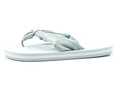 Mustang 1243-705 Schuhe Damen Zehentrenner Pantoletten, Schuhgröße:36;Farbe:Blau