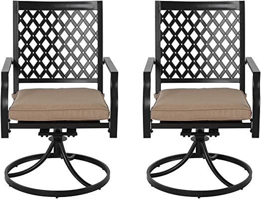 Nuu Garden Outdoor Bistro Swivel Chairs Set of 2