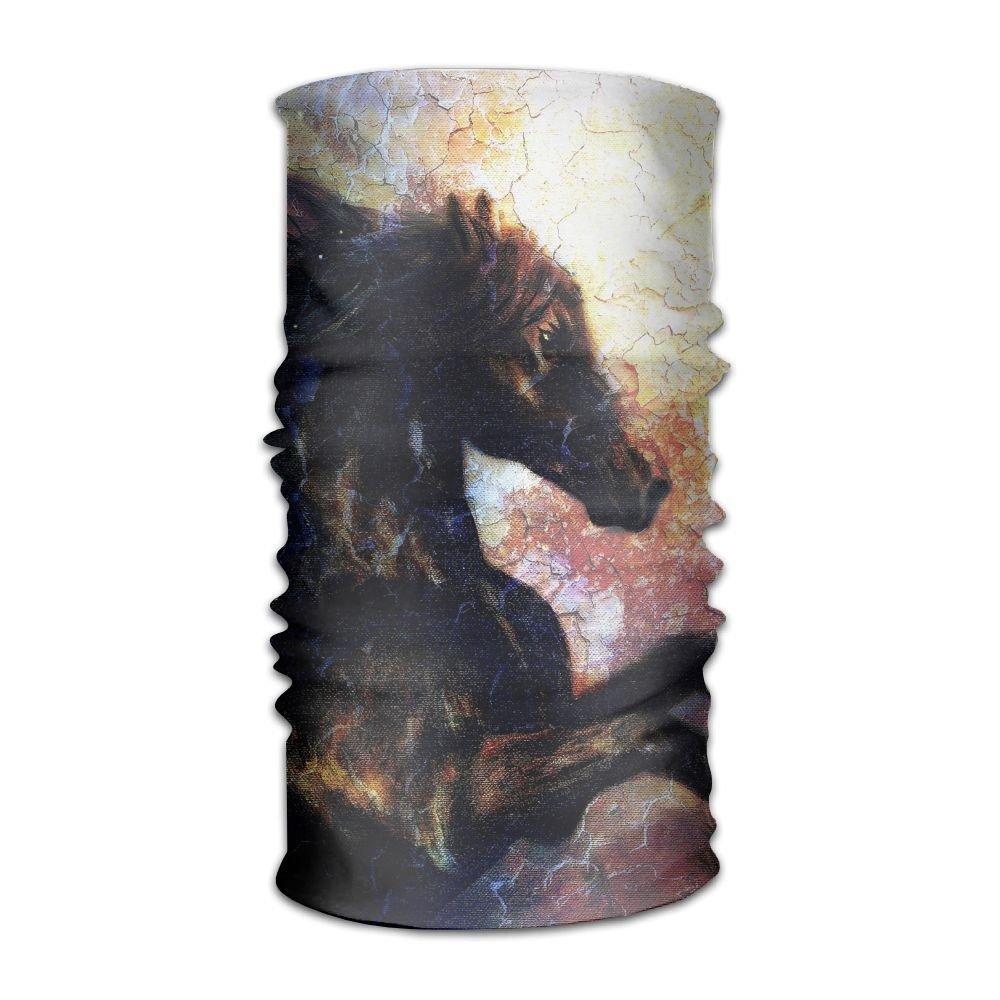 Magic Headwear Black Horse Outdoor Scarf Headbands Bandana Mask Neck Gaiter Head Wrap Mask Sweatband