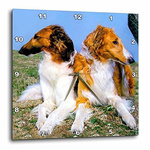 Borzoi Clock - Dogs Borzoi - Borzoi - 10x10 Wall Clock (dpp_403_1)