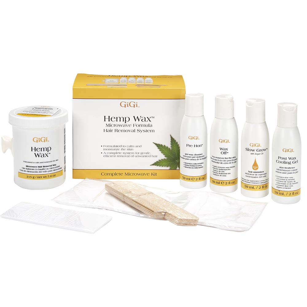 Amazon Com Gigi Hemp Wax At Home Hair Waxing Kit For Safe Fast