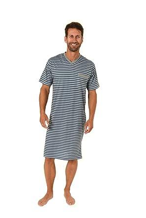 doppelter gutschein am besten bewerteten neuesten zum halben Preis Herren Nachthemd mit V-Hals, Streifen, Kurzarm, Grau, 61387 ...