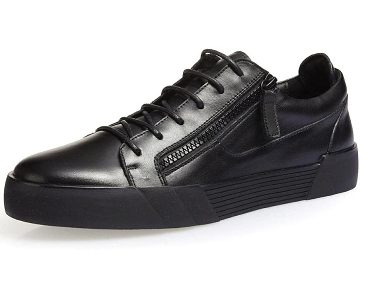 DHFUD Herbstschuhe Männliche Koreanische Freizeitschuhe Leder Herrenschuhe Atmungsaktiv Niedrige Schuhe