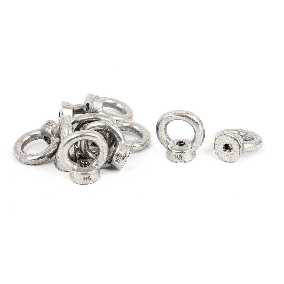 Marine M6 Female Thread Metal Lifting Eye Nuts Ring 10pcs