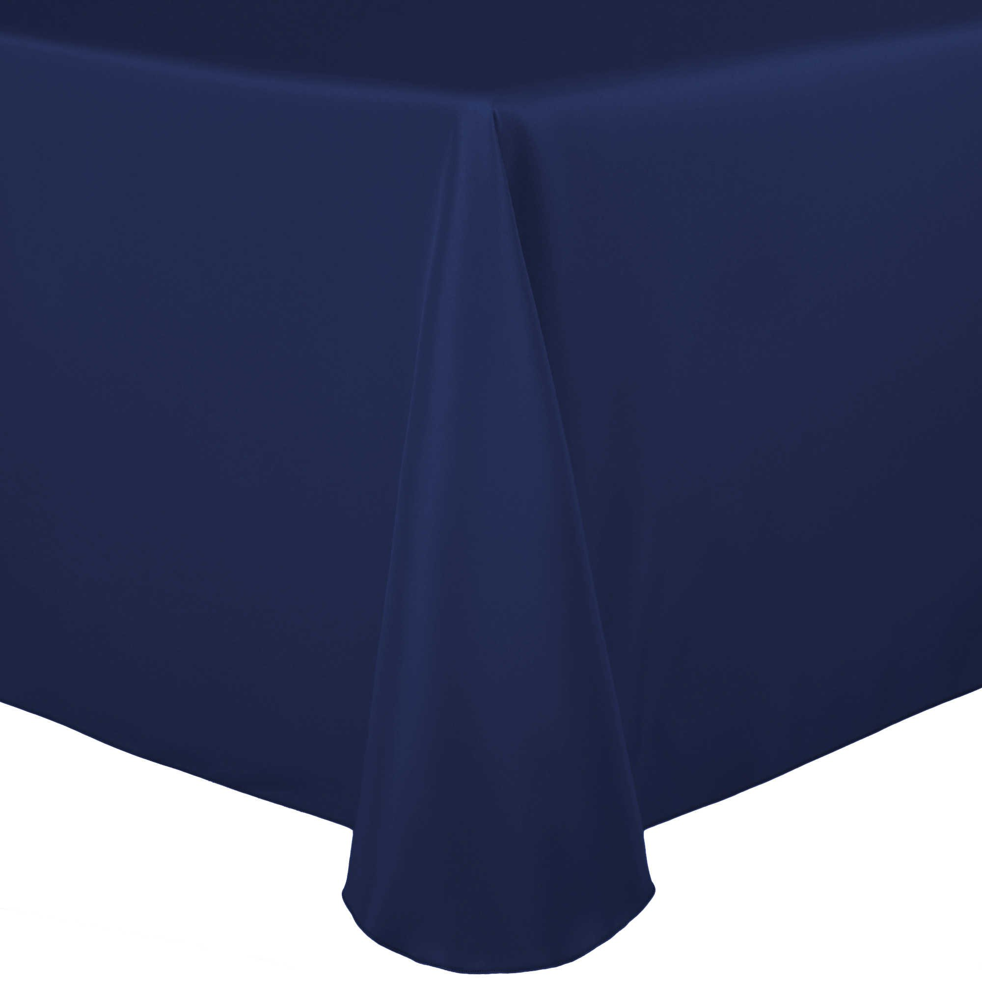 Ultimate Textile (10 Pack) 108 x 132-Inch Oval Polyester Linen Tablecloth - for Home Dining Tables, Navy Blue