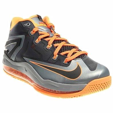 Nike Lebron XI Low 642849-002 Size US 10 Magnet Grey Orange Men's Sneakers