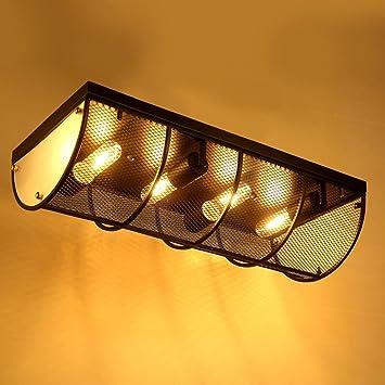 KYDJ ® American Village Eisen Lampe Körper Retro Industrial Style  Deckenleuchte Wohnzimmer Schlafzimmer Restaurant Eingebettete Lampen