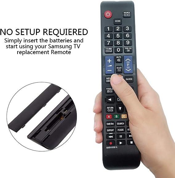 MYHGRC Mando AA59-00581A para Samsung Smart TV para Mando a Distancia para Samsung HDTV LCD LED TV-Reemplazado AA59-00580A AA59-00582A -No Requiere configuración Mando a Distancia para Samsung TV: Amazon.es: Electrónica