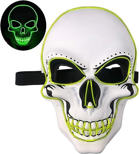 KAIXIANG máscara de Esqueleto de Miedo de Halloween máscara de ...