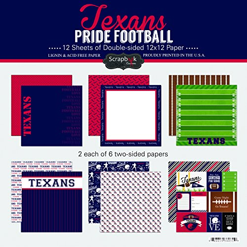 Scrapbook Customs Texans Pride Football Kit ()