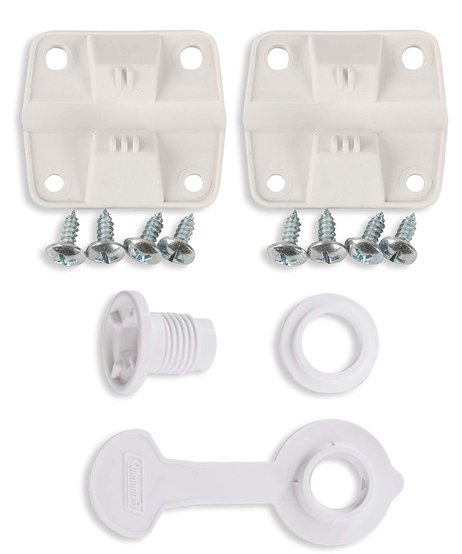 Kaimeng Ice Coffre Cooler Charni/ères en plastique de rechange et Lot et vis standard Montage de vidange 2,5/cm Longueur de tige Combo//Bundle