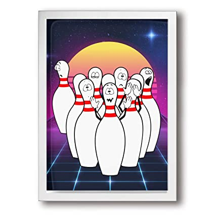 Amazon Com Joywall 9 X13 Framed Canvas Print Art Humorous Bowling