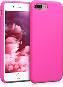 kwmobile TPU Silicone Case Compatible with Apple iPhone 7 Plus / 8 Plus - Soft Flexible Rubber Protective Cover - Magenta