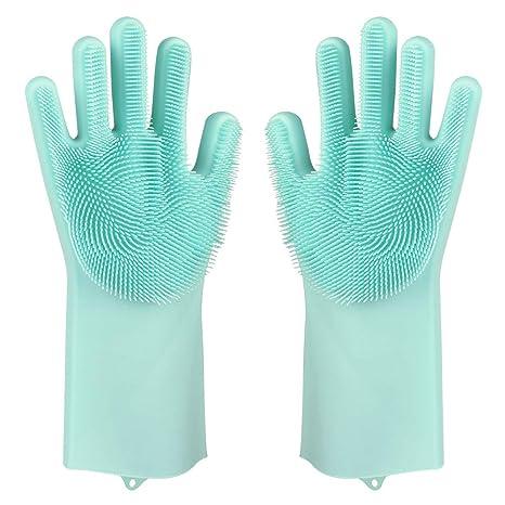 Amazon.com: Guantes de esponja para limpieza de lavavajillas ...