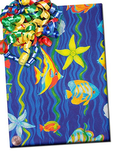 30'' X 15' Tropical Fish Gift Wrap by Paper Mart
