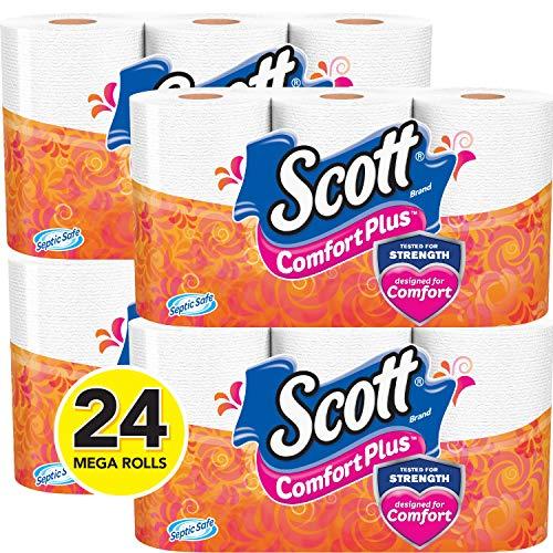 اسعار Scott ComfortPlus Toilet Paper, 24 Mega Toilet Paper Rolls, Bath Tissue
