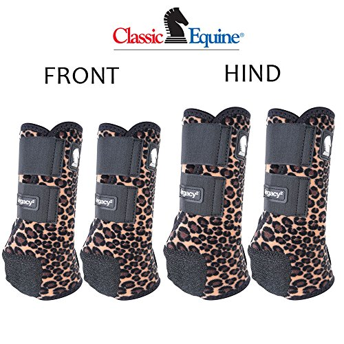 - MEDIUM CLASSIC EQUINE LEGACY2 HORSE FRONT HIND SPORTS BOOTS 4 PACK CHEETAH PRINT