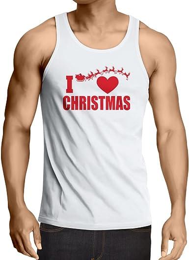 Camisetas de Tirantes para Hombre Me Encanta la Navidad ...