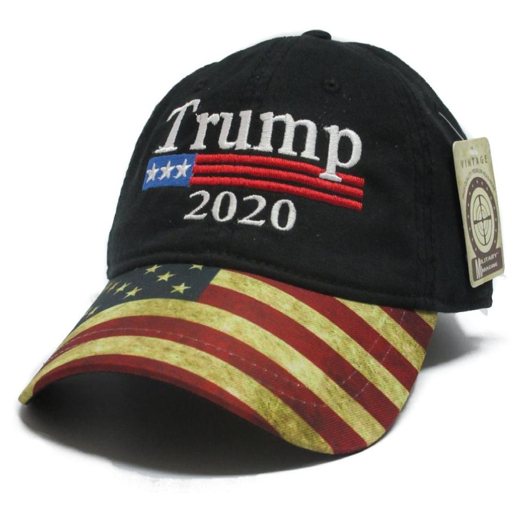 Military imagine Trump Black Cap US Flag Keep America Great hat President 2020 China