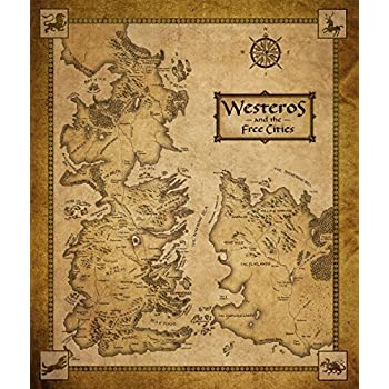 Tomorrow sunny 24X36 INCH / ART SILK POSTER / Game Of Thrones Houses Map Westeros And Free Cities poster home decoration wall Sticker