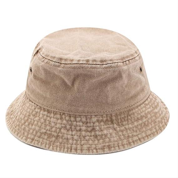 WENHAODJ Sombrero de Pescador para Hombres Sombrero de algodón Lavado Tapa para Damas Cuatro Estaciones Viaje al Aire Libre Sombrero para el Sol Visera Caqui: Amazon.es: Ropa y accesorios