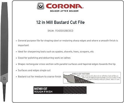 Nicholson 10 in Length 3 Units American Pattern File Single Cut Mill Shape