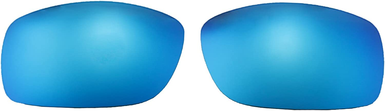 Walleva Polarized Fire Red Ice Blue Replacement Lenses For Maui Jim World Cup Sunglasses