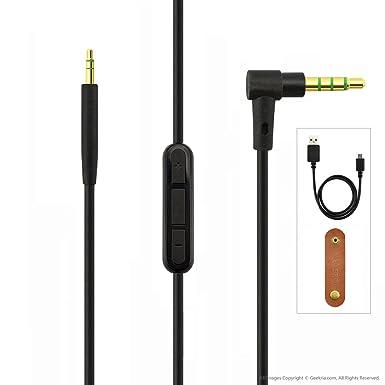 Cable de repuesto para auriculares Bose QuietComfort (QC35); cable de audio con control