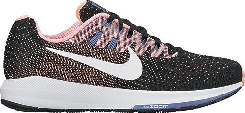 1b84b39527e9a Women s Nike Air Zoom Structure 20 BLACK WHITE-LAVA GLOW-CHLORINE BLUE  10.5  Amazon.co.uk  Shoes   Bags