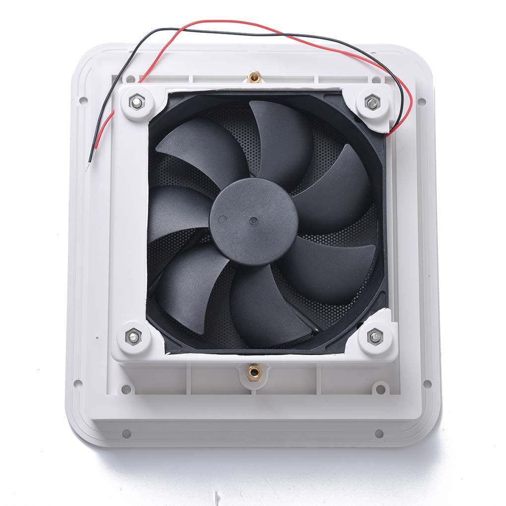 Zerama Universal Motorhomes 12V White Air Vent Fan RV Trailer Caravan Side Air Ventilation Car Accessories