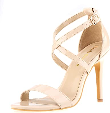 Womens Ankle Strap Thong Sandals Ladies Open Toe Stiletto High Heels Shoes
