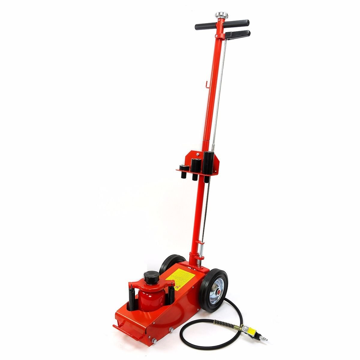 Hydraulic Floor Jack Rubber Wheels Truck Heavy Duty Power Lift Auto Repair Bottle Jack 22 Ton Air Capacity Ram - House Deals