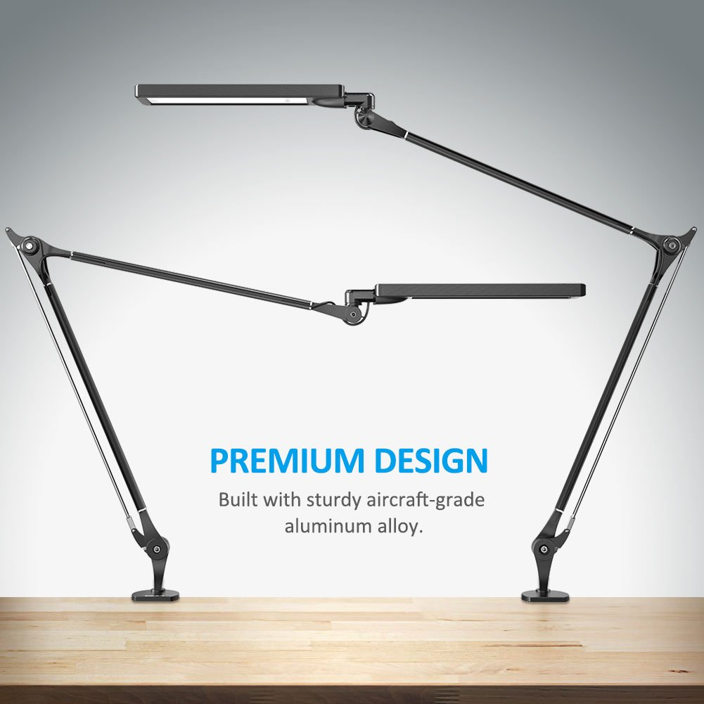 BYB E476 Metal Architect LED Desk Lamp, Swing Arm Task Lamp with ...