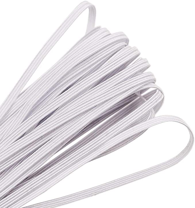 1x More than 10yards in one skein 3mm round elastic band cord//white color